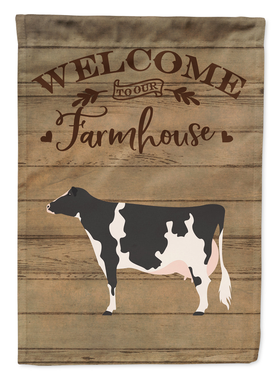 Holstein Cow Welcome Flag Canvas House Size CK6766CHF by Caroline's Treasures