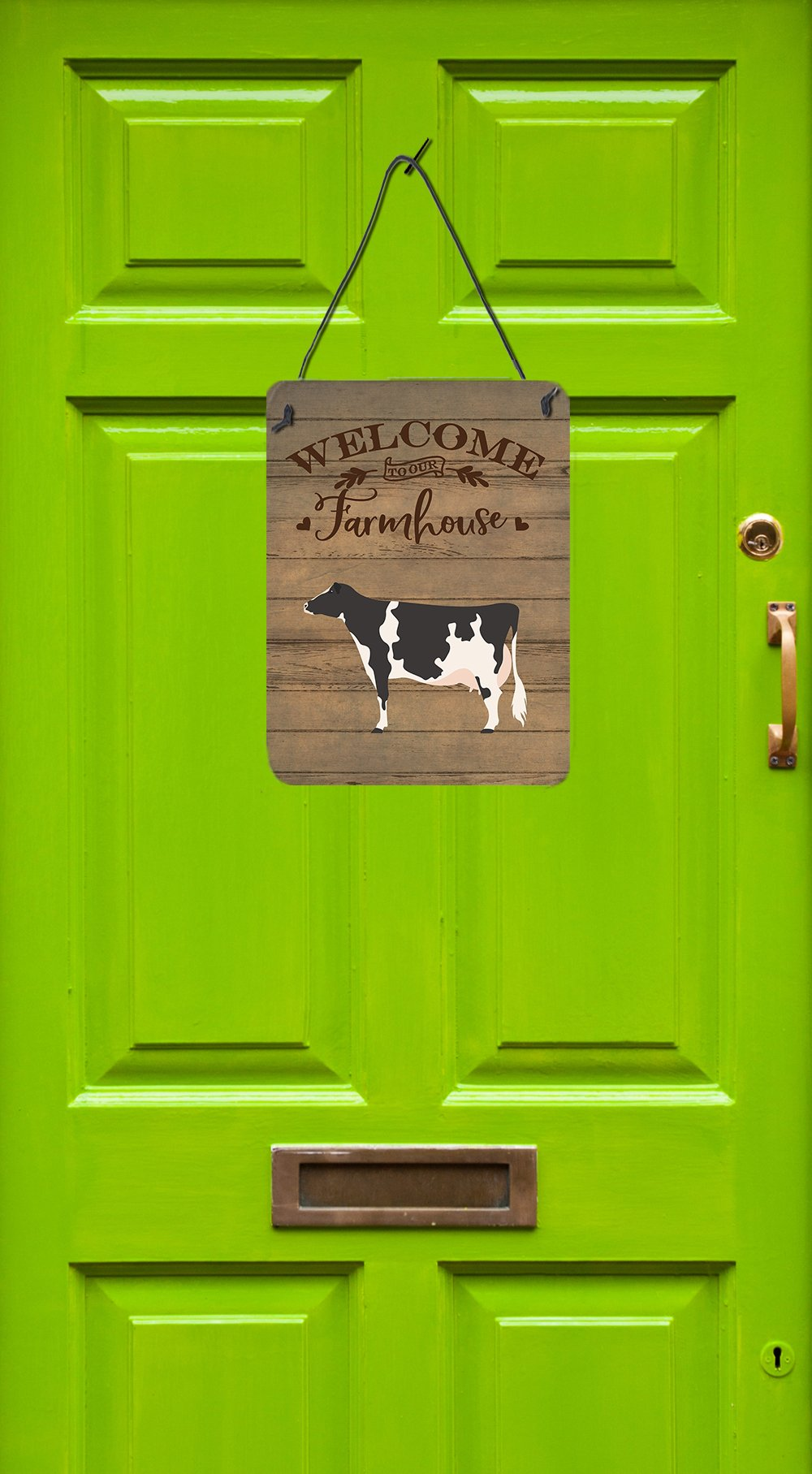 Holstein Cow Welcome Wall or Door Hanging Prints CK6766DS1216 by Caroline's Treasures