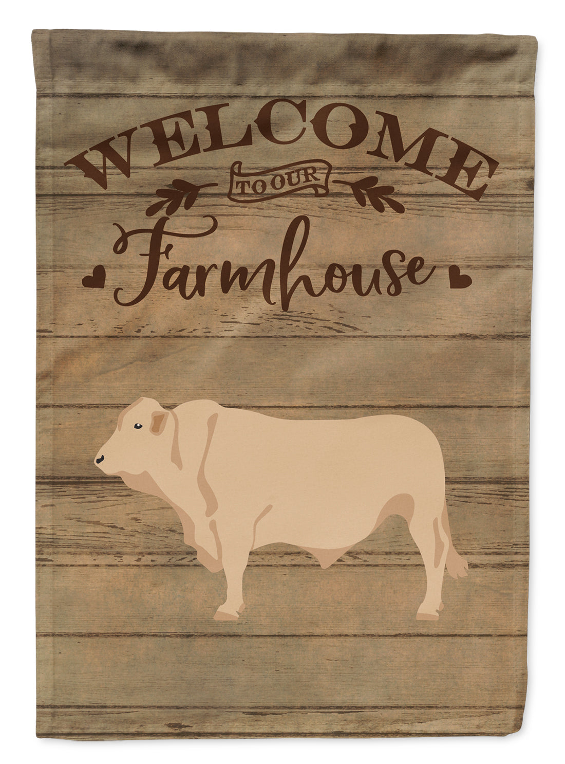 Buy this Charolais Cow Welcome Flag Garden Size CK6770GF