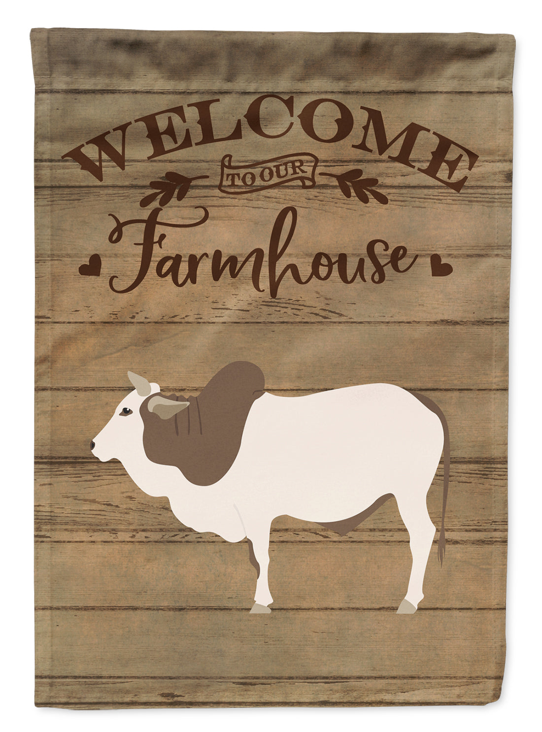 Malvi Cow Welcome Flag Canvas House Size CK6774CHF by Caroline's Treasures