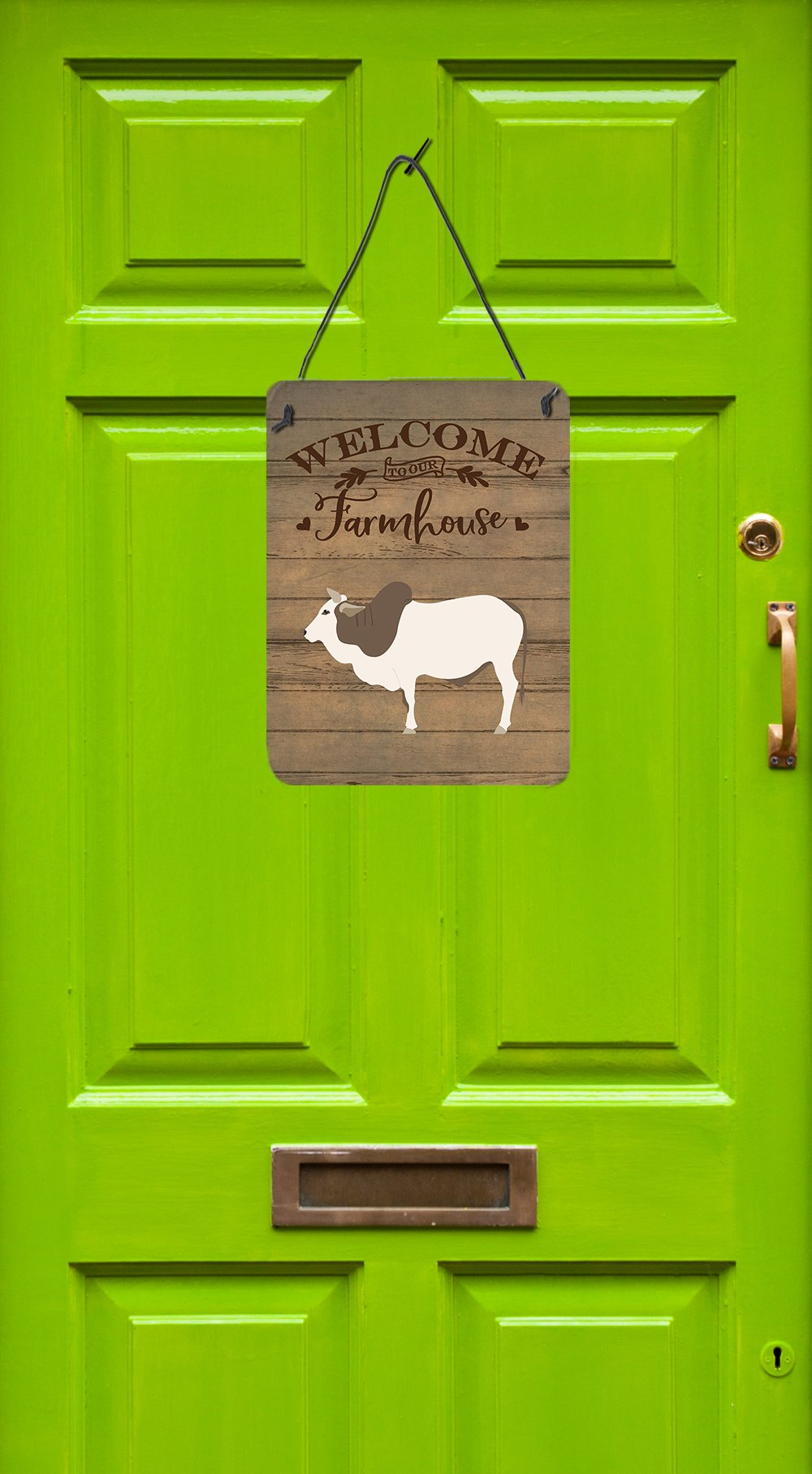 Malvi Cow Welcome Wall or Door Hanging Prints CK6774DS1216 by Caroline's Treasures