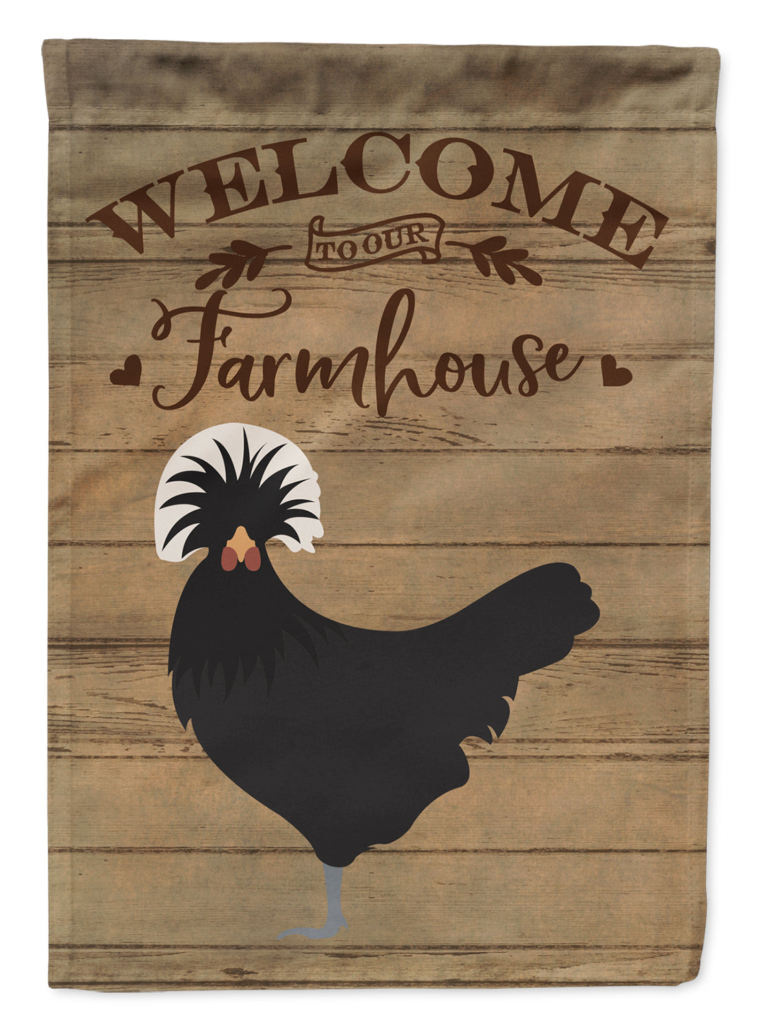 Polish Poland Chicken Welcome Flag Canvas House Size CK6778CHF by Caroline's Treasures