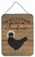 Polish Poland Chicken Welcome Wall or Door Hanging Prints CK6778DS1216 by Caroline's Treasures