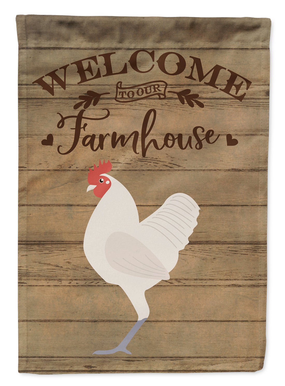 German Langshan Chicken Welcome Flag Canvas House Size CK6781CHF by Caroline's Treasures