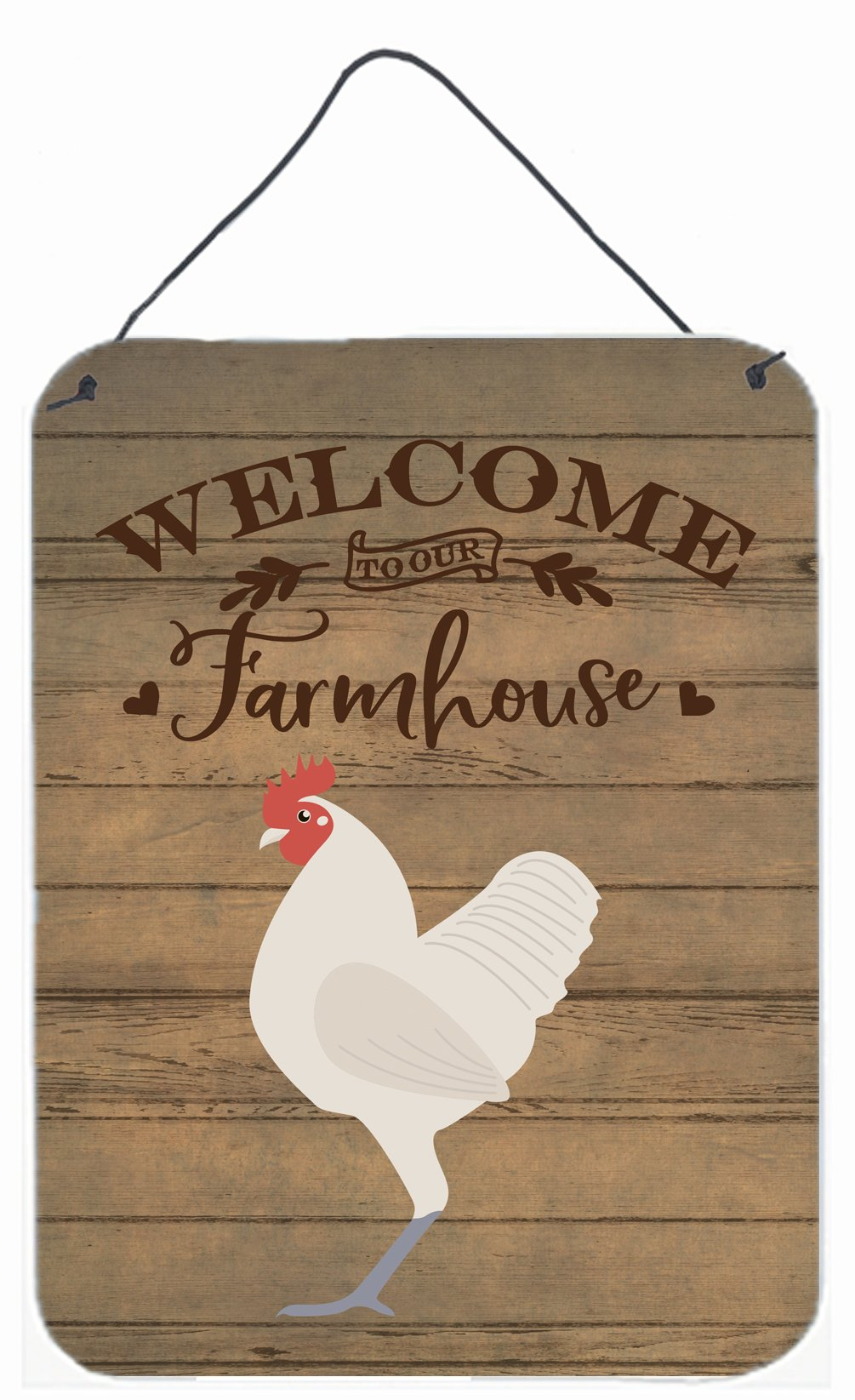 German Langshan Chicken Welcome Wall or Door Hanging Prints CK6781DS1216 by Caroline's Treasures