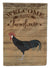 Minorca Ctalalan Chicken Welcome Flag Garden Size CK6785GF by Caroline's Treasures