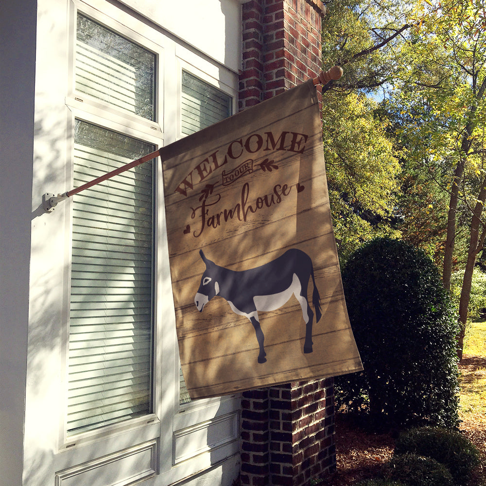 American Mammoth Jack Donkey Welcome Flag Canvas House Size CK6788CHF by Caroline's Treasures
