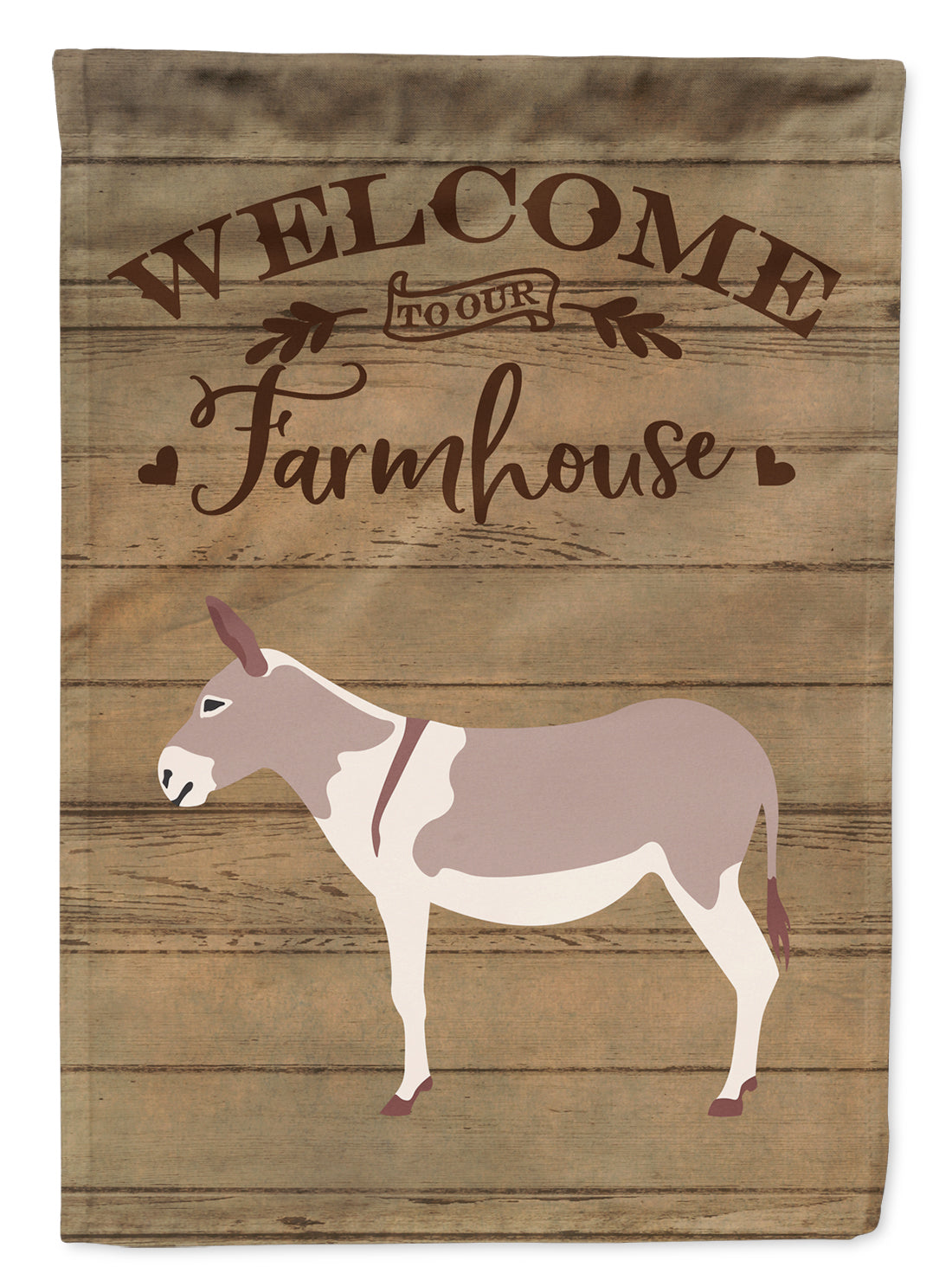 Australian Teamster Donkey Welcome Flag Canvas House Size CK6790CHF by Caroline's Treasures