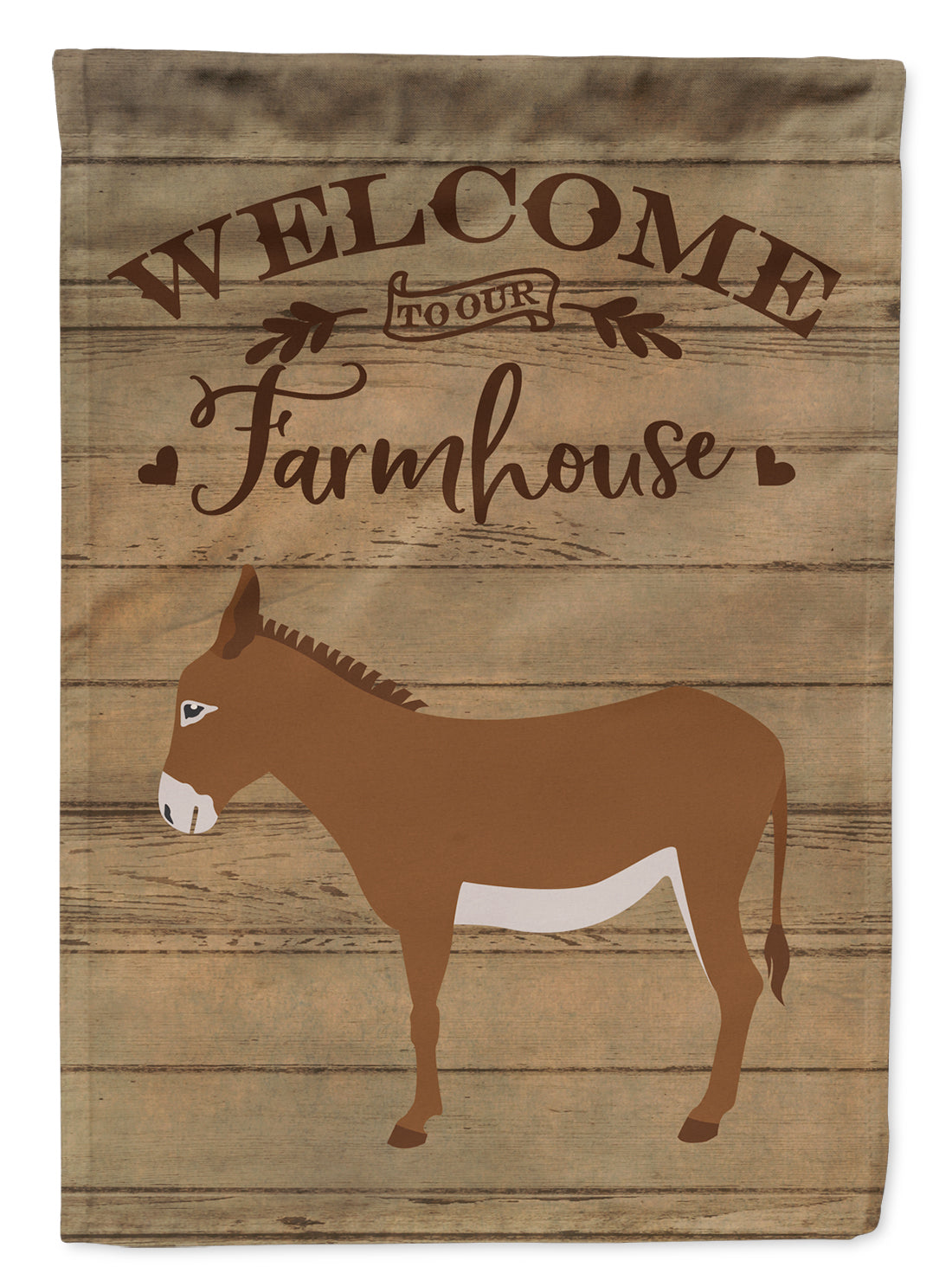 Cotentin Donkey Welcome Flag Canvas House Size CK6793CHF by Caroline's Treasures
