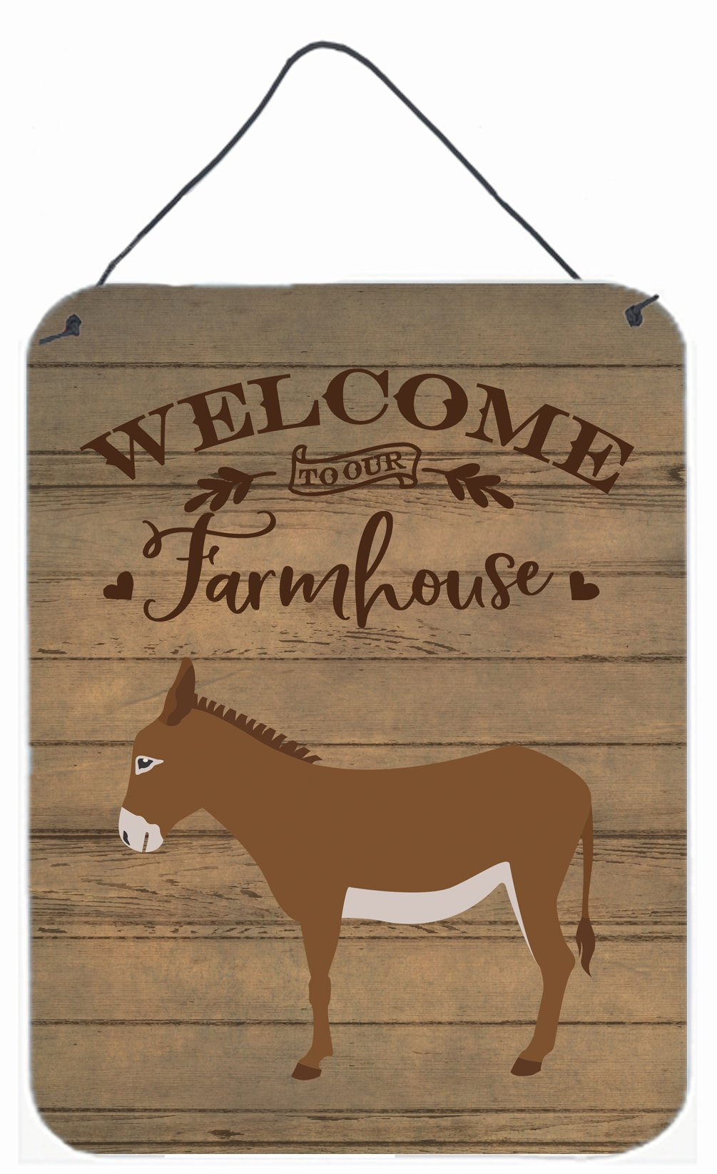 Cotentin Donkey Welcome Wall or Door Hanging Prints CK6793DS1216 by Caroline's Treasures