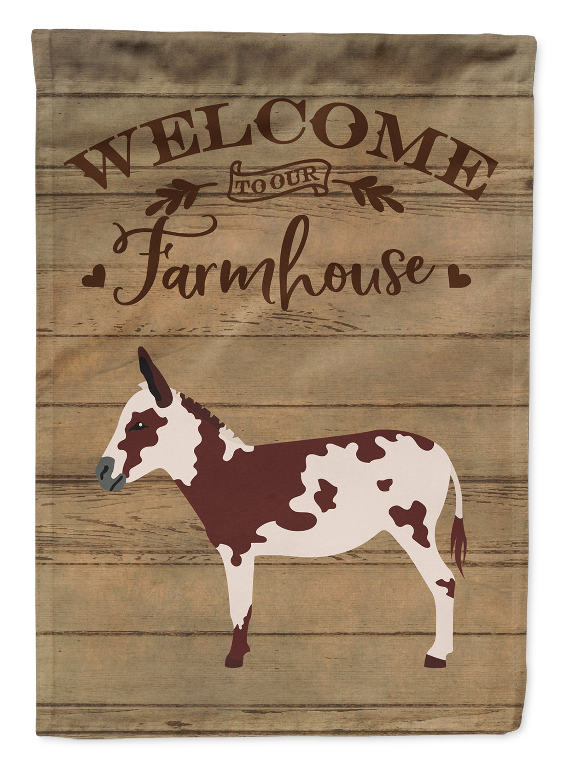 American Spotted Donkey Welcome Flag Canvas House Size CK6795CHF by Caroline's Treasures
