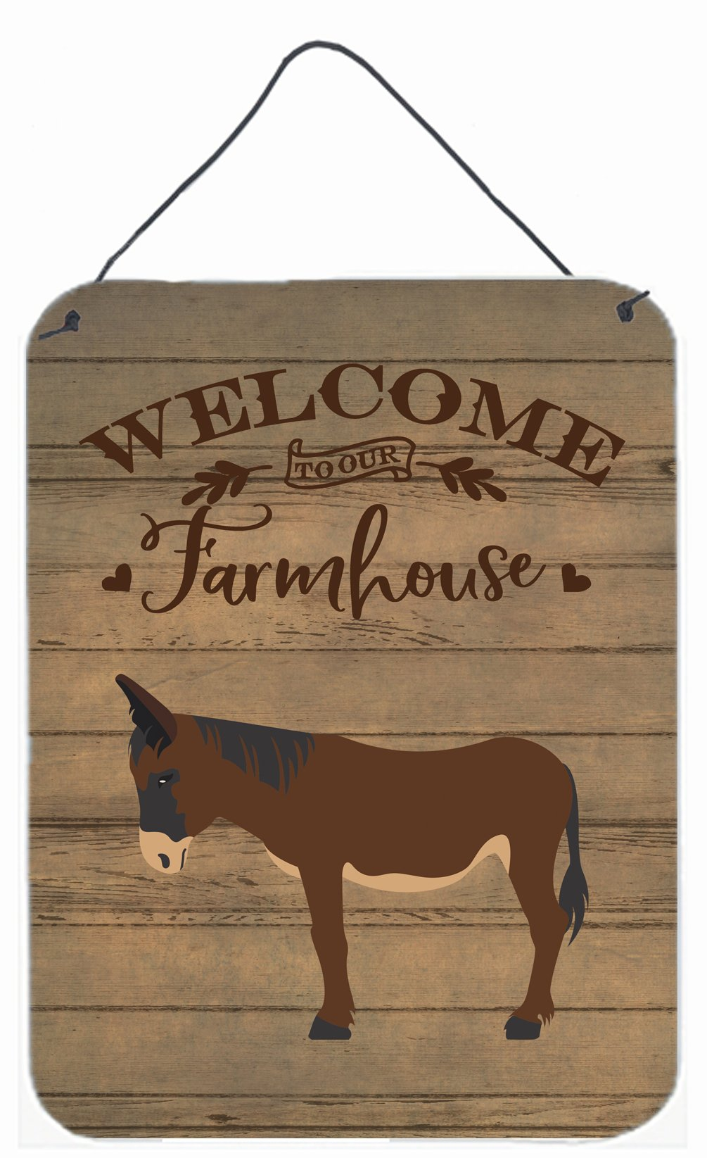 Buy this Zamorano-Leones Donkey Welcome Wall or Door Hanging Prints CK6797DS1216
