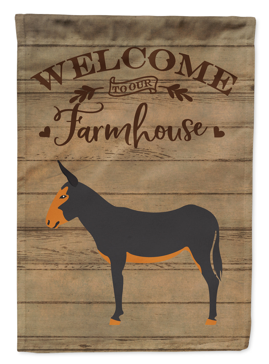 Buy this Catalan Donkey Welcome Flag Canvas House Size CK6799CHF