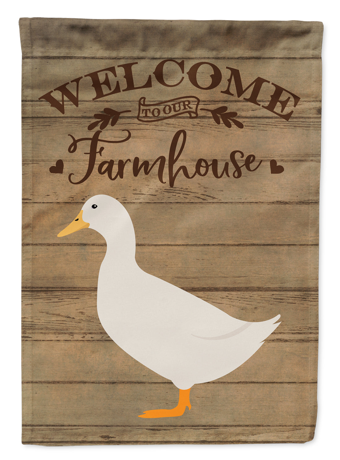 American Pekin Duck Welcome Flag Canvas House Size CK6804CHF by Caroline's Treasures