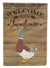 Saxony Sachsenente Duck Welcome Flag Canvas House Size CK6807CHF by Caroline's Treasures