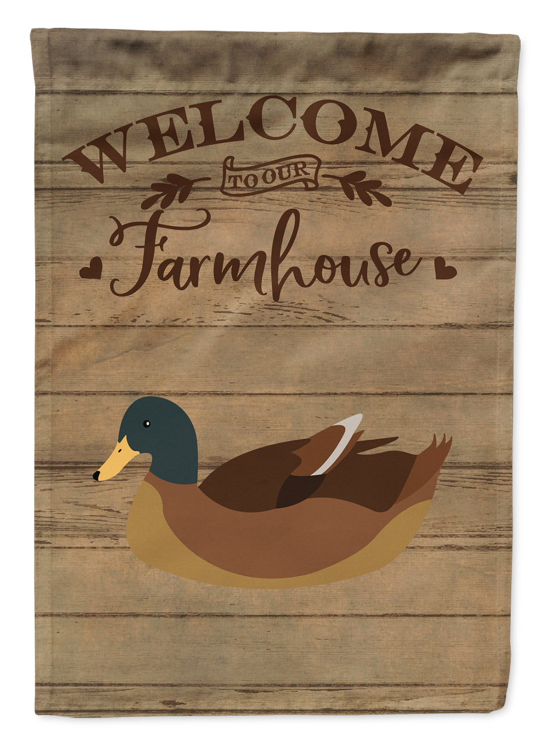 Khaki Campbell Duck Welcome Flag Canvas House Size CK6810CHF by Caroline's Treasures