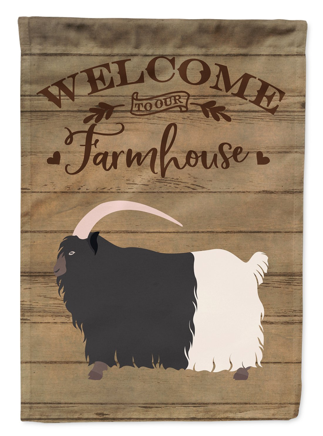 Welsh Black-Necked Goat Welcome Flag Garden Size CK6831GF by Caroline's Treasures