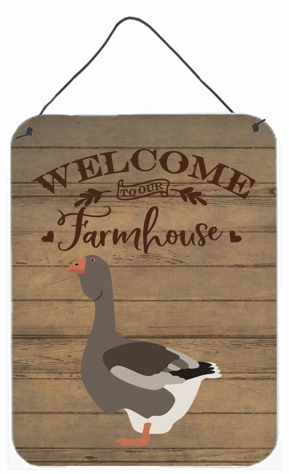Toulouse Goose Welcome Wall or Door Hanging Prints CK6841DS1216 by Caroline's Treasures
