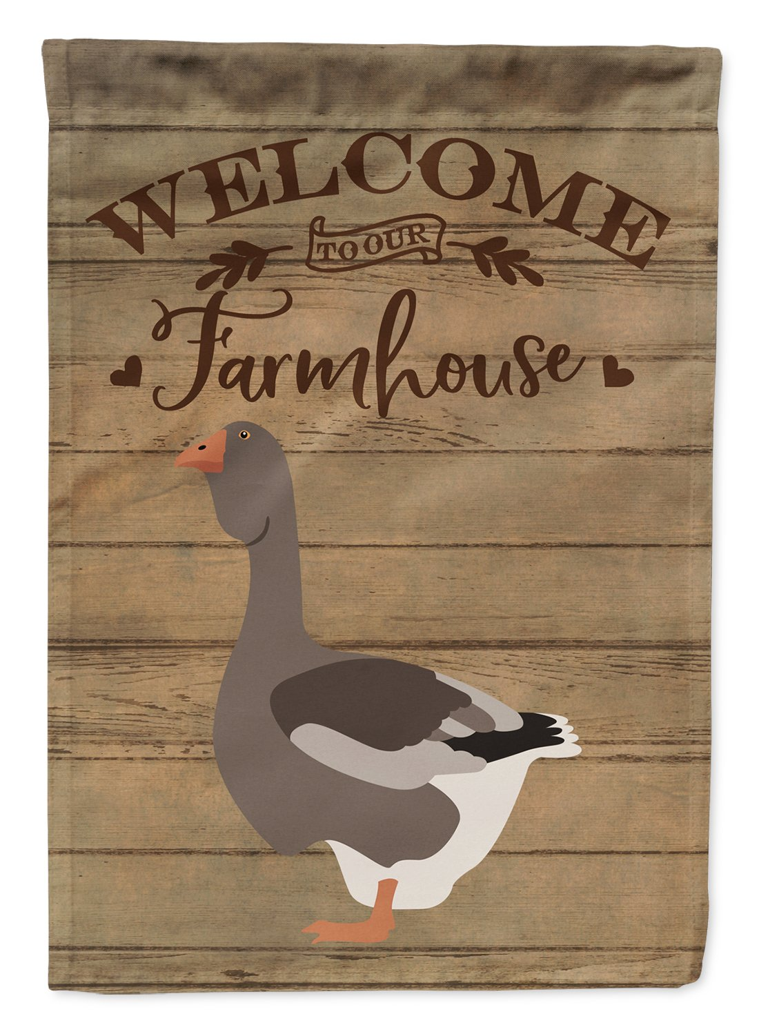 Toulouse Goose Welcome Flag Garden Size CK6841GF by Caroline's Treasures