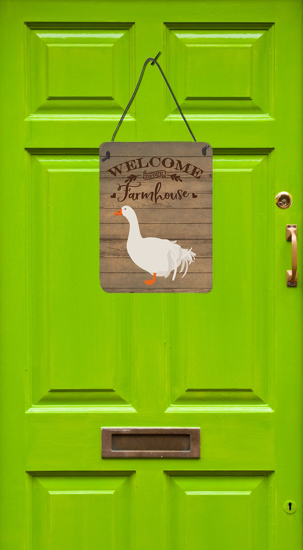 Sebastopol Goose Welcome Wall or Door Hanging Prints CK6846DS1216 by Caroline's Treasures