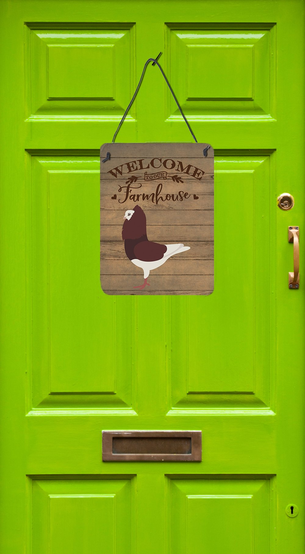 Capuchin Red Pigeon Welcome Wall or Door Hanging Prints CK6892DS1216 by Caroline's Treasures