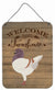 German Modena Pigeon Welcome Wall or Door Hanging Prints CK6893DS1216 by Caroline's Treasures