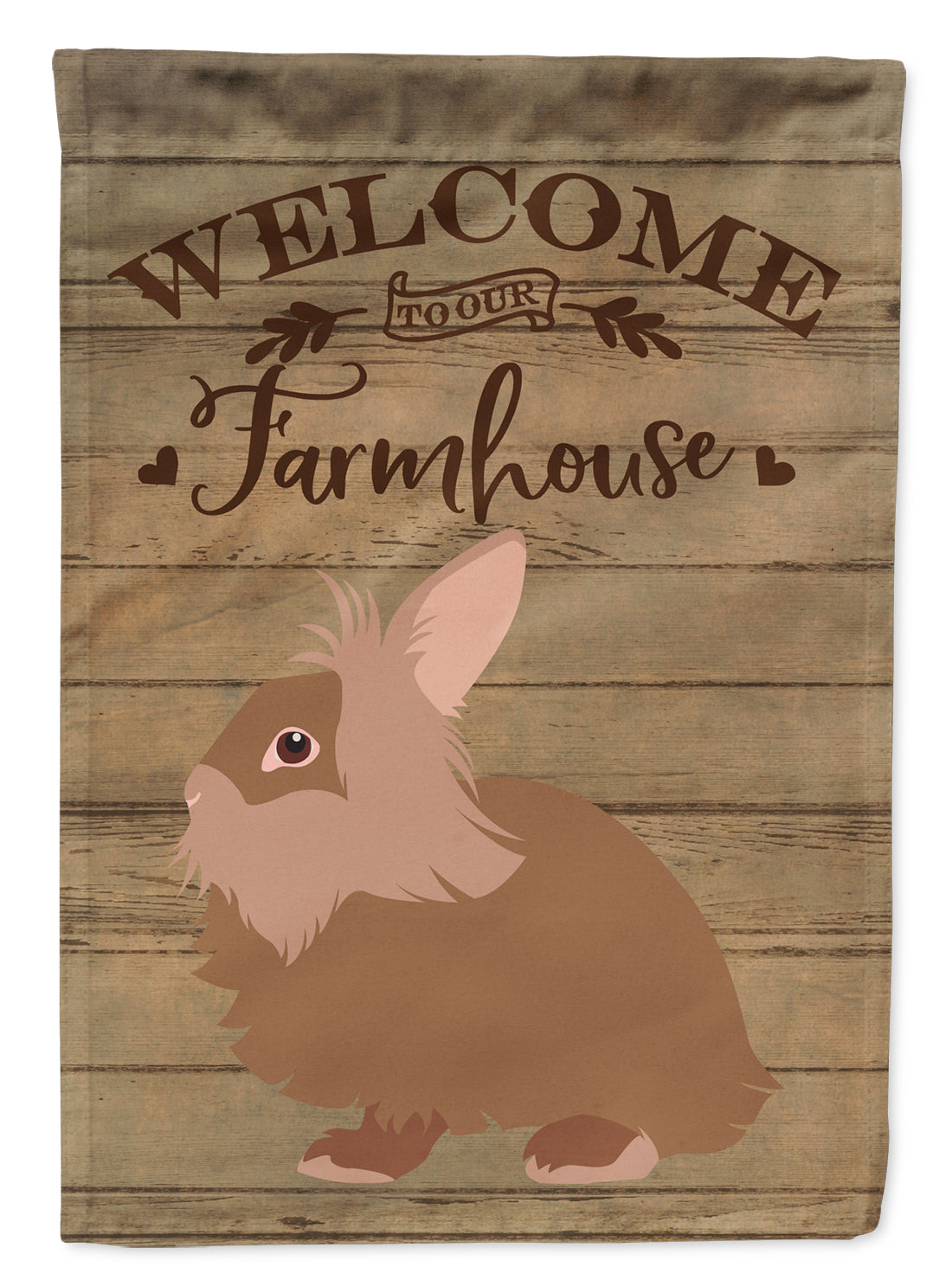 Lionhead Rabbit Welcome Flag Garden Size CK6904GF by Caroline's Treasures
