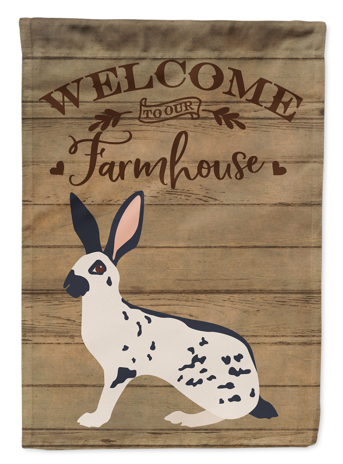 English Spot Rabbit Welcome Flag Garden Size CK6905GF by Caroline's Treasures