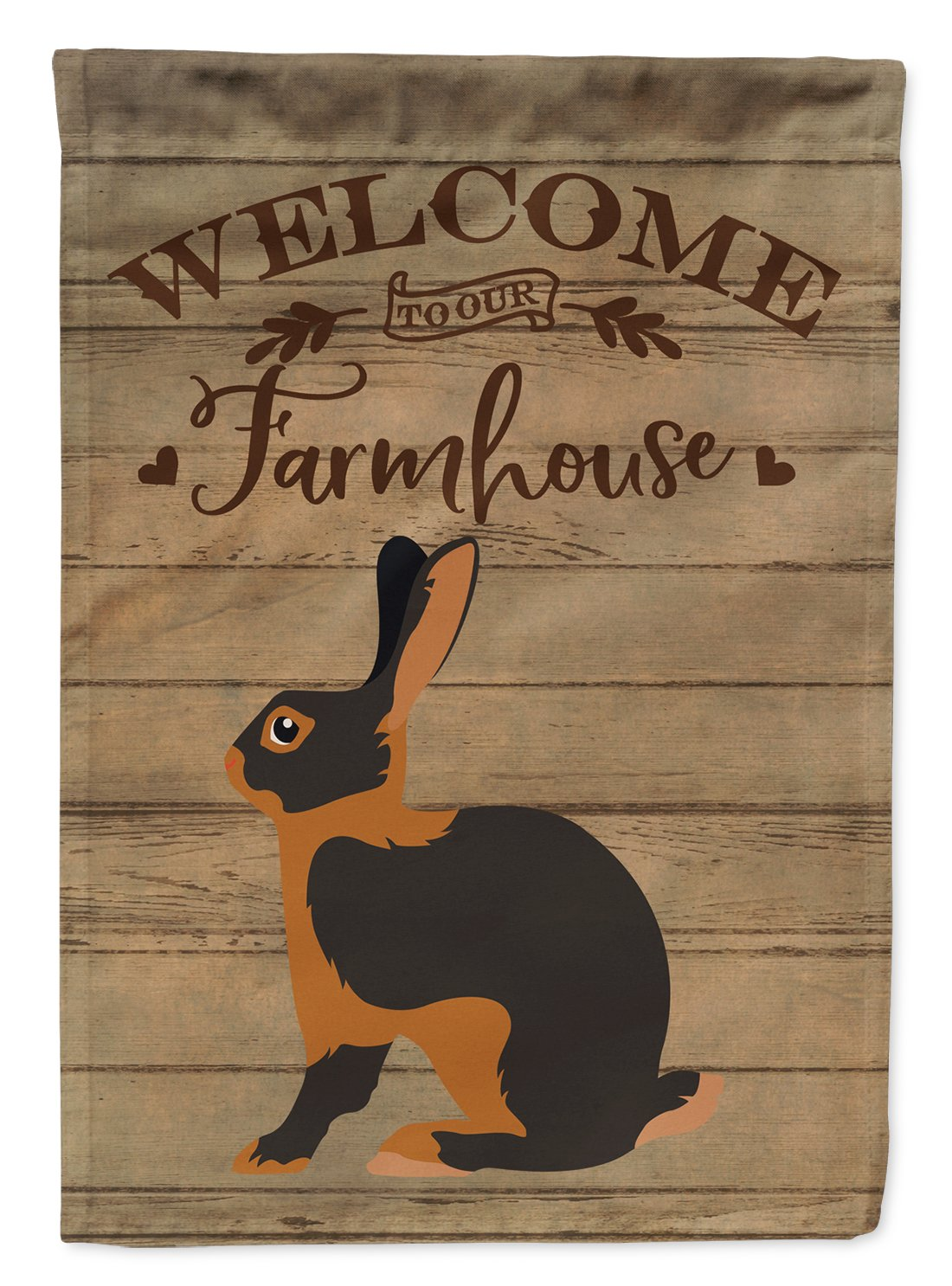 Tan Rabbit Welcome Flag Garden Size CK6907GF by Caroline's Treasures