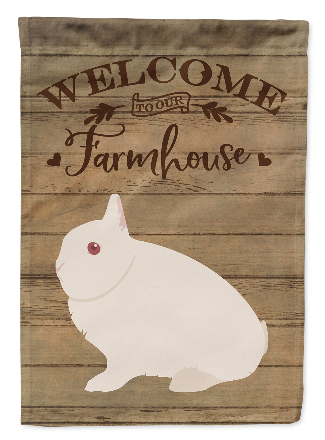 Hermelin Rabbit Welcome Flag Canvas House Size CK6908CHF by Caroline's Treasures