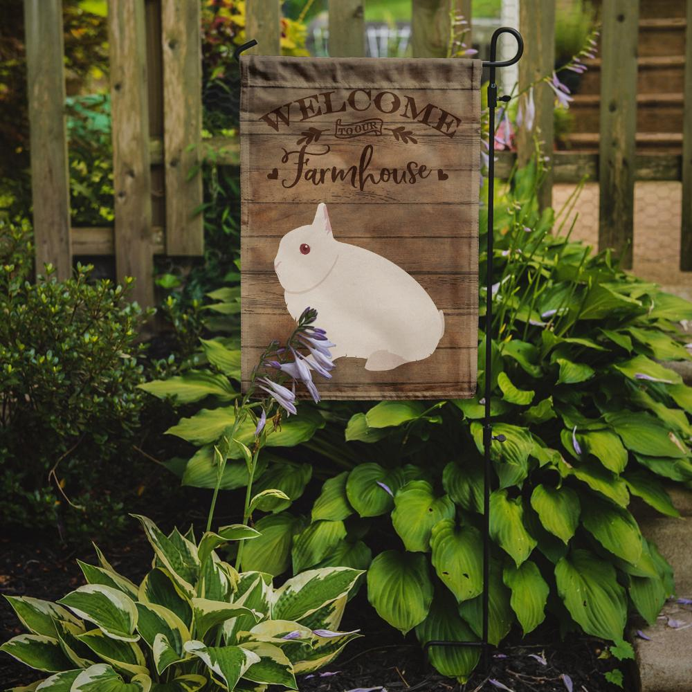 Hermelin Rabbit Welcome Flag Garden Size CK6908GF by Caroline's Treasures