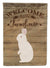 New Zealand White Rabbit Welcome Flag Canvas House Size CK6909CHF by Caroline's Treasures