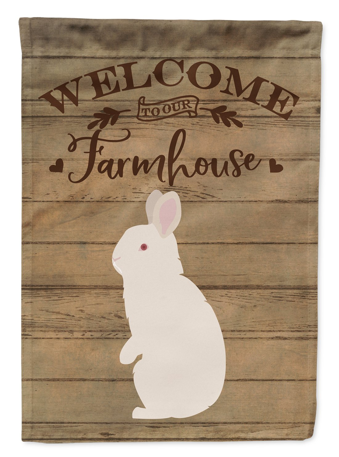 New Zealand White Rabbit Welcome Flag Garden Size CK6909GF by Caroline's Treasures