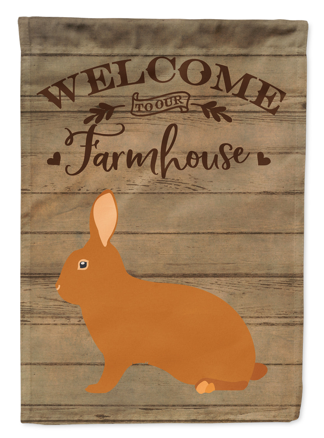 Rex Rabbit Welcome Flag Canvas House Size CK6913CHF by Caroline's Treasures