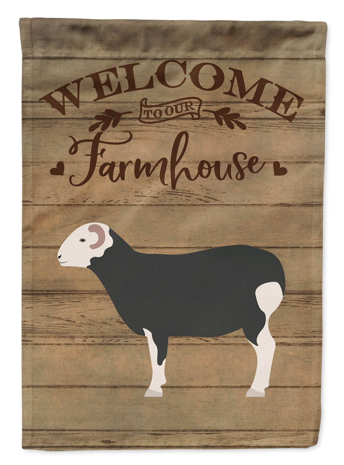 Herwick Sheep Welcome Flag Canvas House Size CK6914CHF by Caroline's Treasures