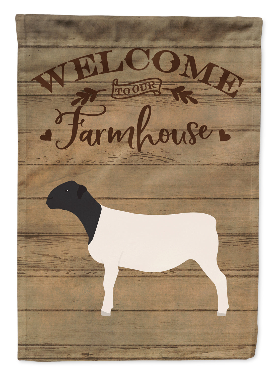 Dorper Sheep Welcome Flag Canvas House Size CK6922CHF by Caroline's Treasures