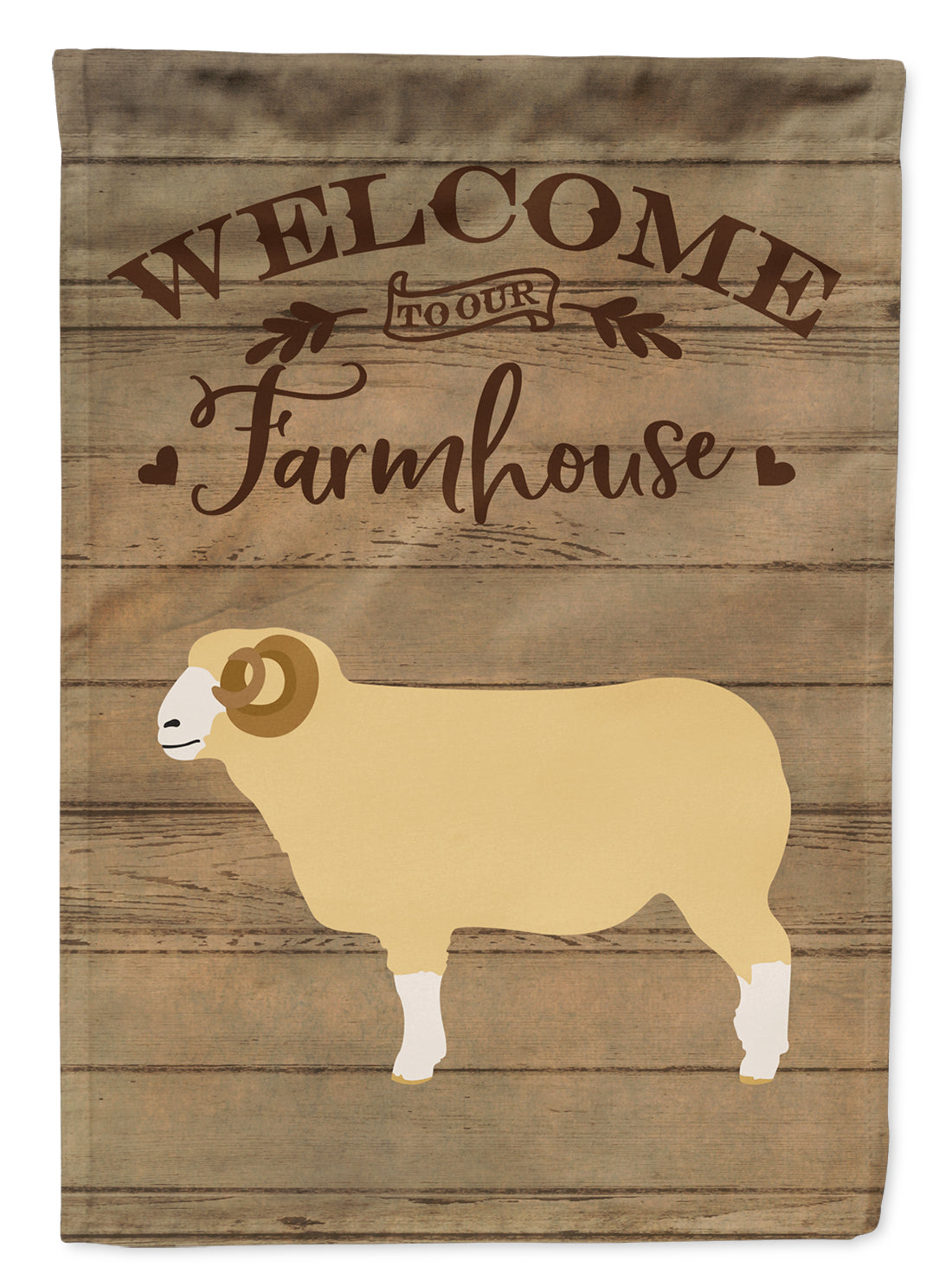 Buy this Horned Dorset Sheep Welcome Flag Garden Size CK6924GF
