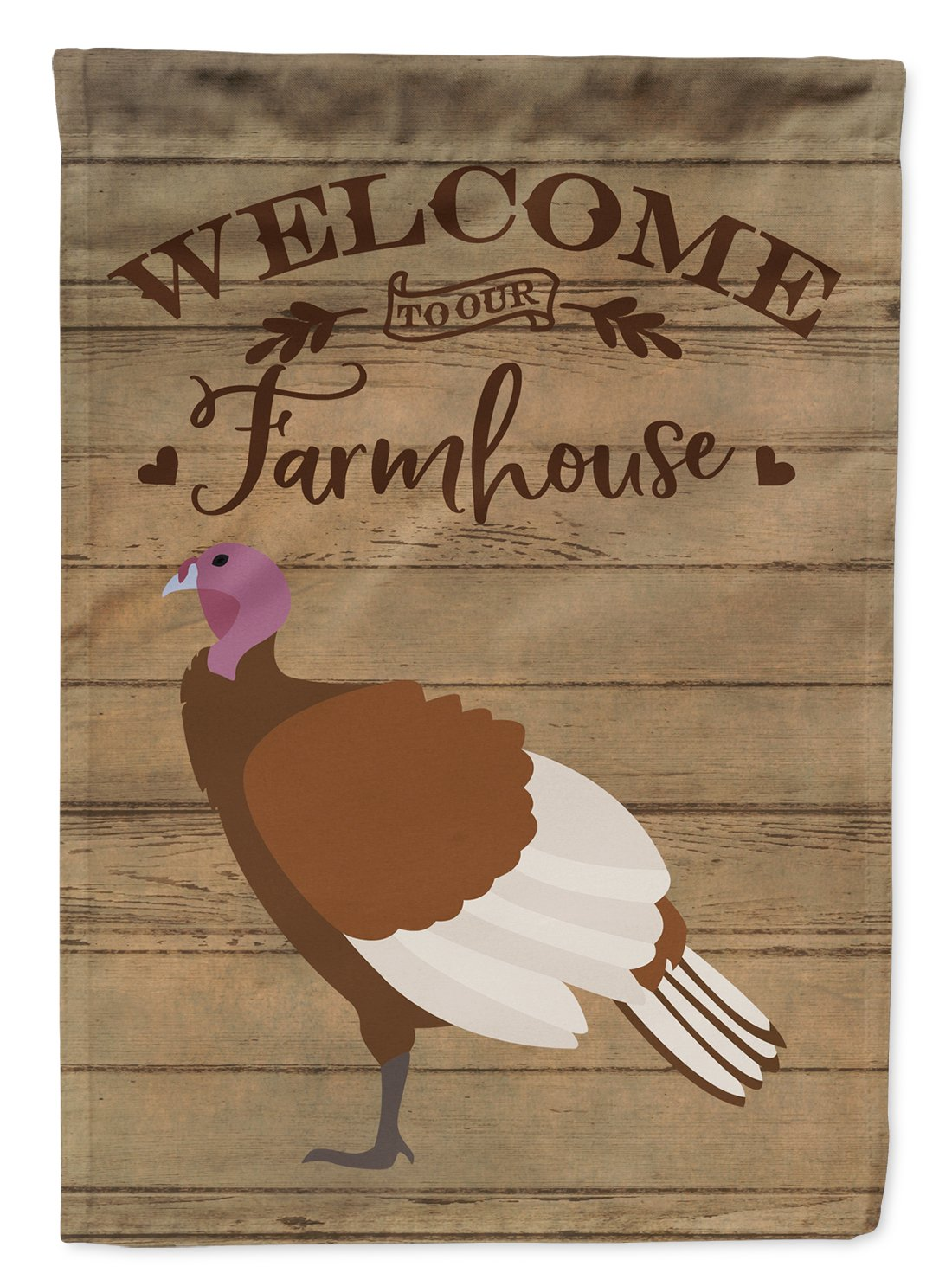 Bourbon Red Turkey Hen Welcome Flag Garden Size CK6926GF by Caroline's Treasures