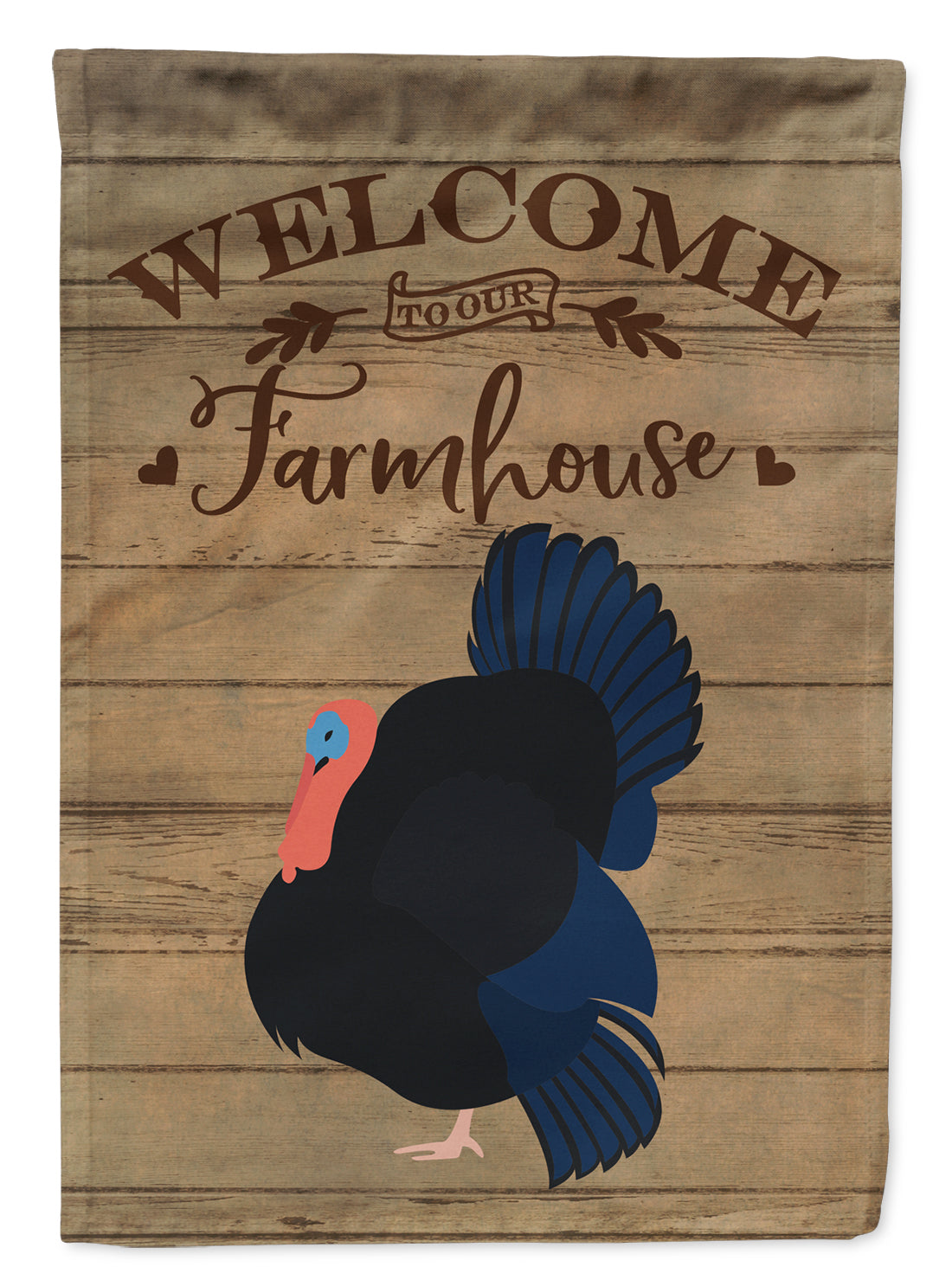 Norfolk Black Turkey Welcome Flag Canvas House Size CK6929CHF by Caroline's Treasures