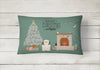 Lowchen Christmas Everyone Canvas Fabric Decorative Pillow CK7582PW1216 by Caroline's Treasures