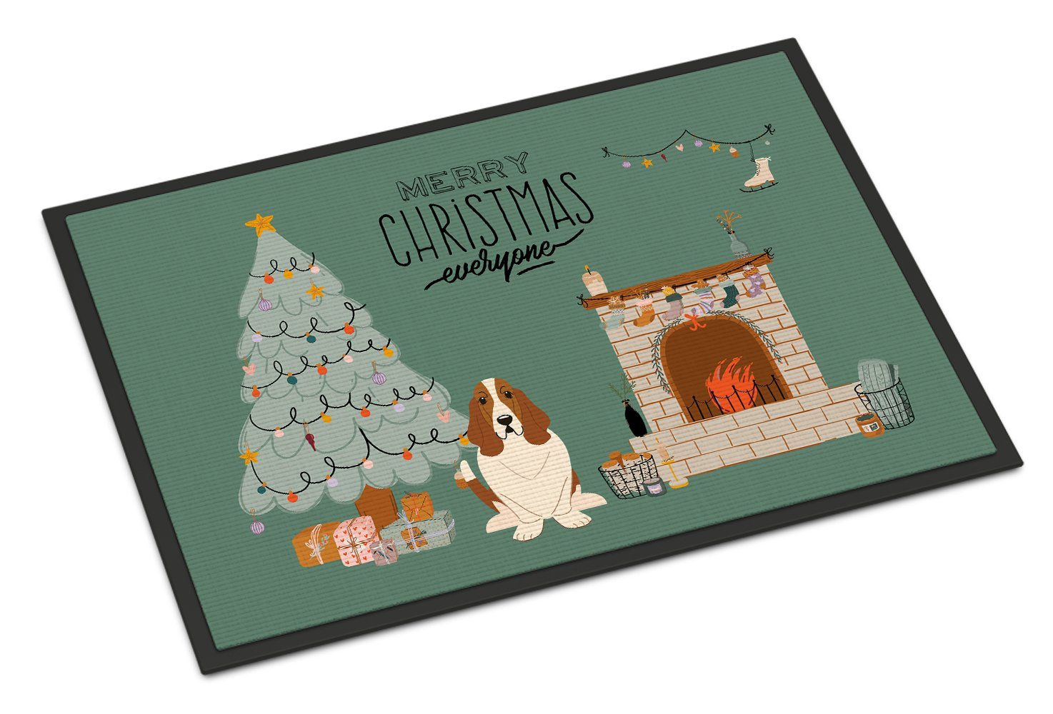 Basset Hound Christmas Everyone Indoor or Outdoor Mat 24x36 CK7584JMAT by Caroline's Treasures