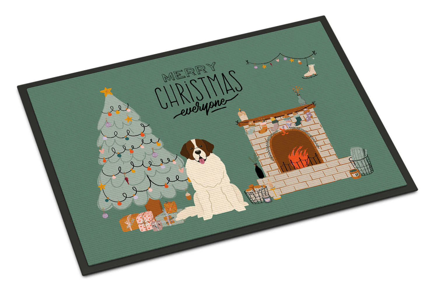 Moscow Watchdog Christmas Everyone Indoor or Outdoor Mat 18x27 CK7590MAT by Caroline's Treasures