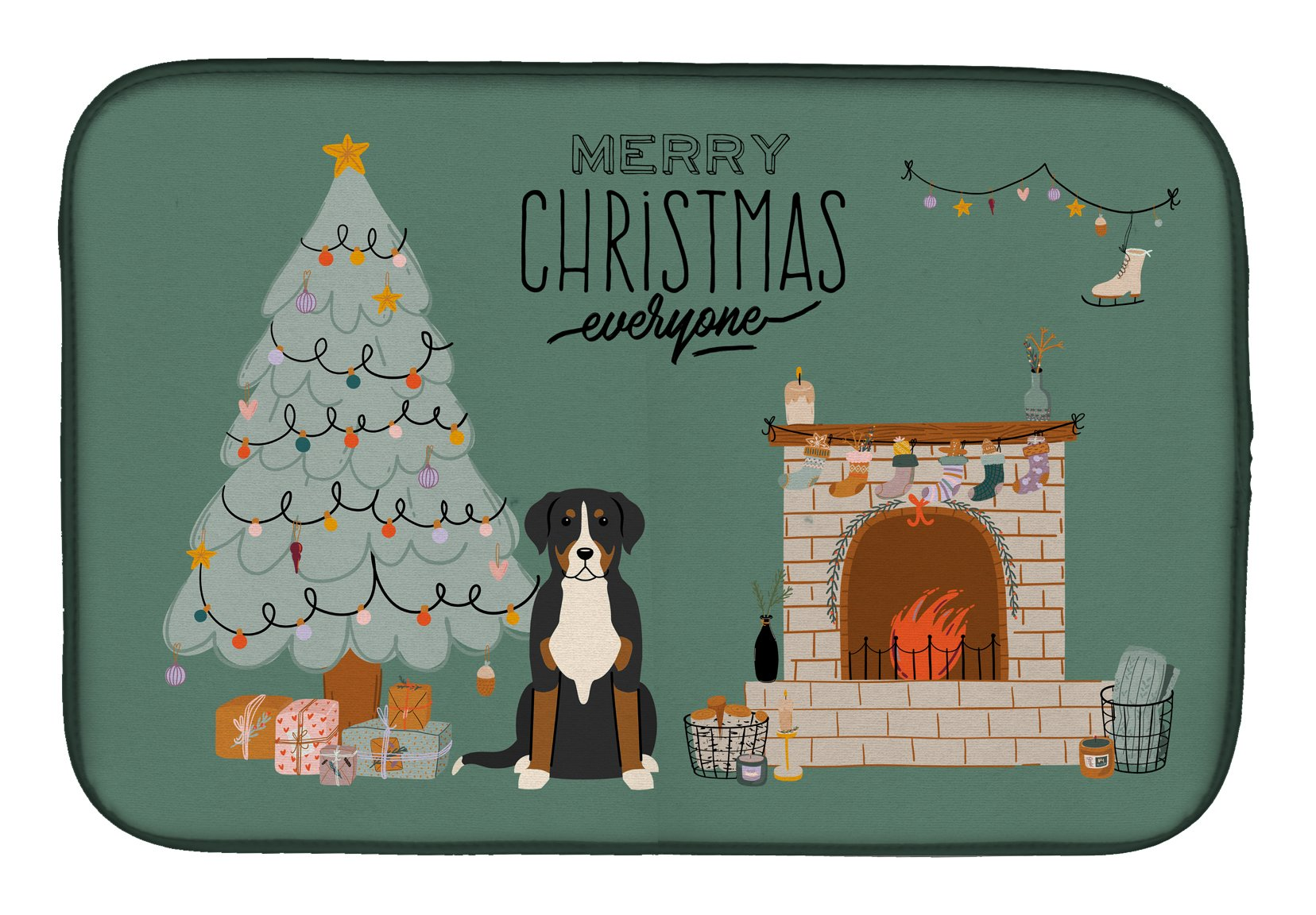 Greater Swiss Mountain Dog Christmas Everyone Dish Drying Mat CK7600DDM by Caroline's Treasures