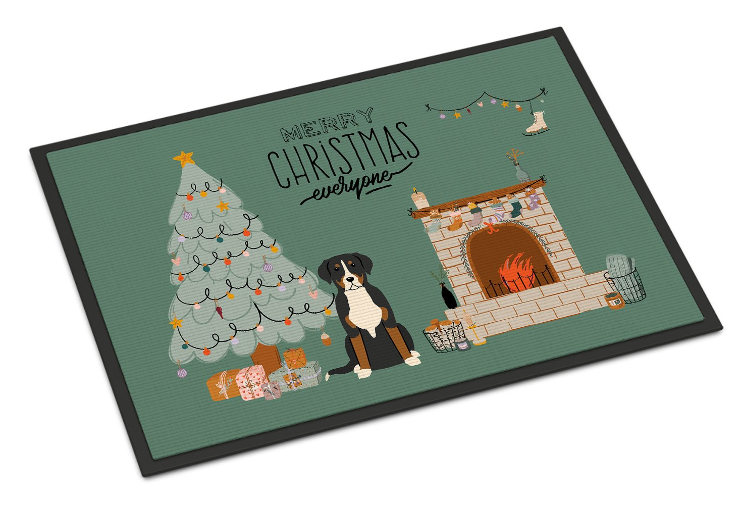 Greater Swiss Mountain Dog Christmas Everyone Indoor or Outdoor Mat 24x36 CK7600JMAT by Caroline's Treasures