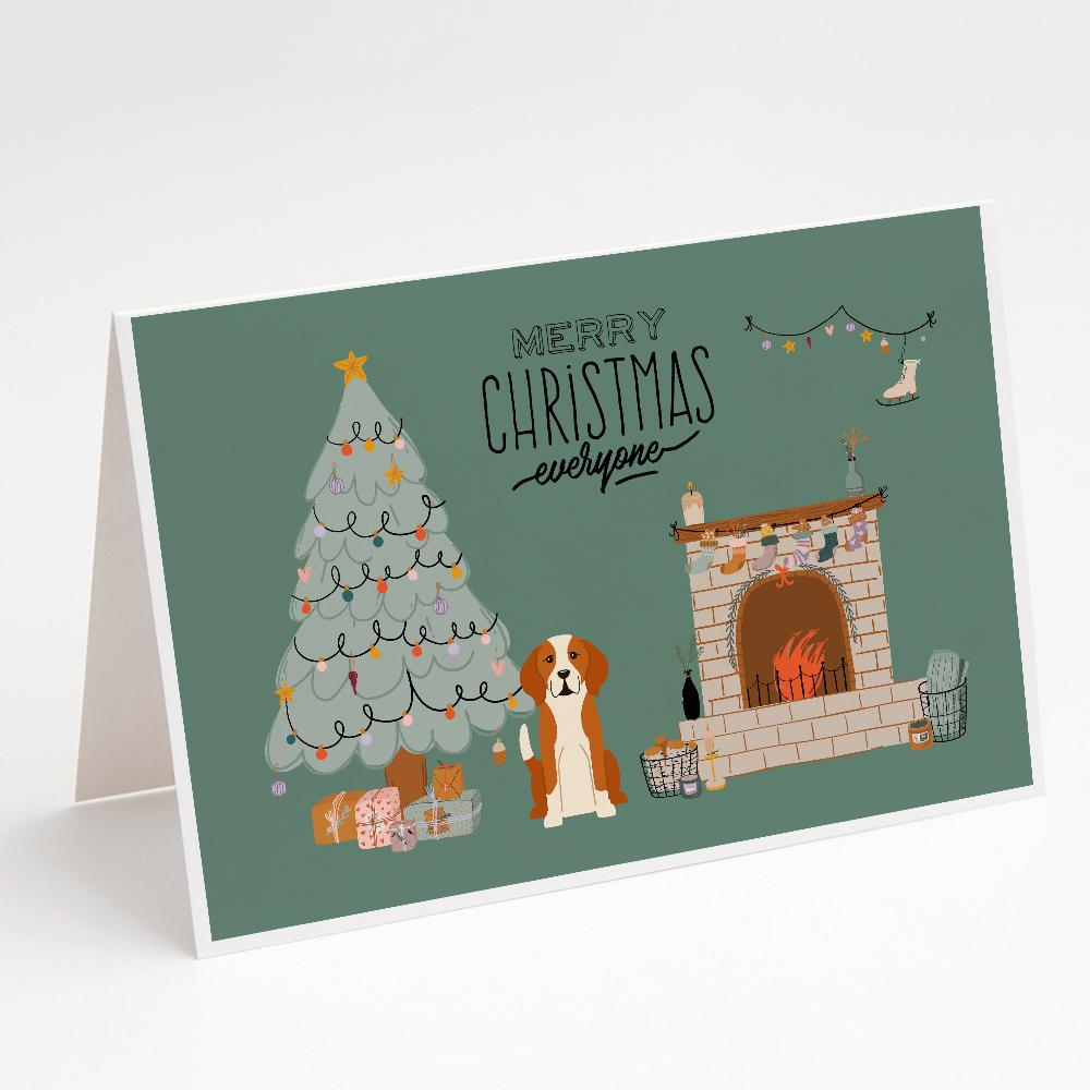 Buy this English Foxhound Christmas Everyone Greeting Cards and Envelopes Pack of 8