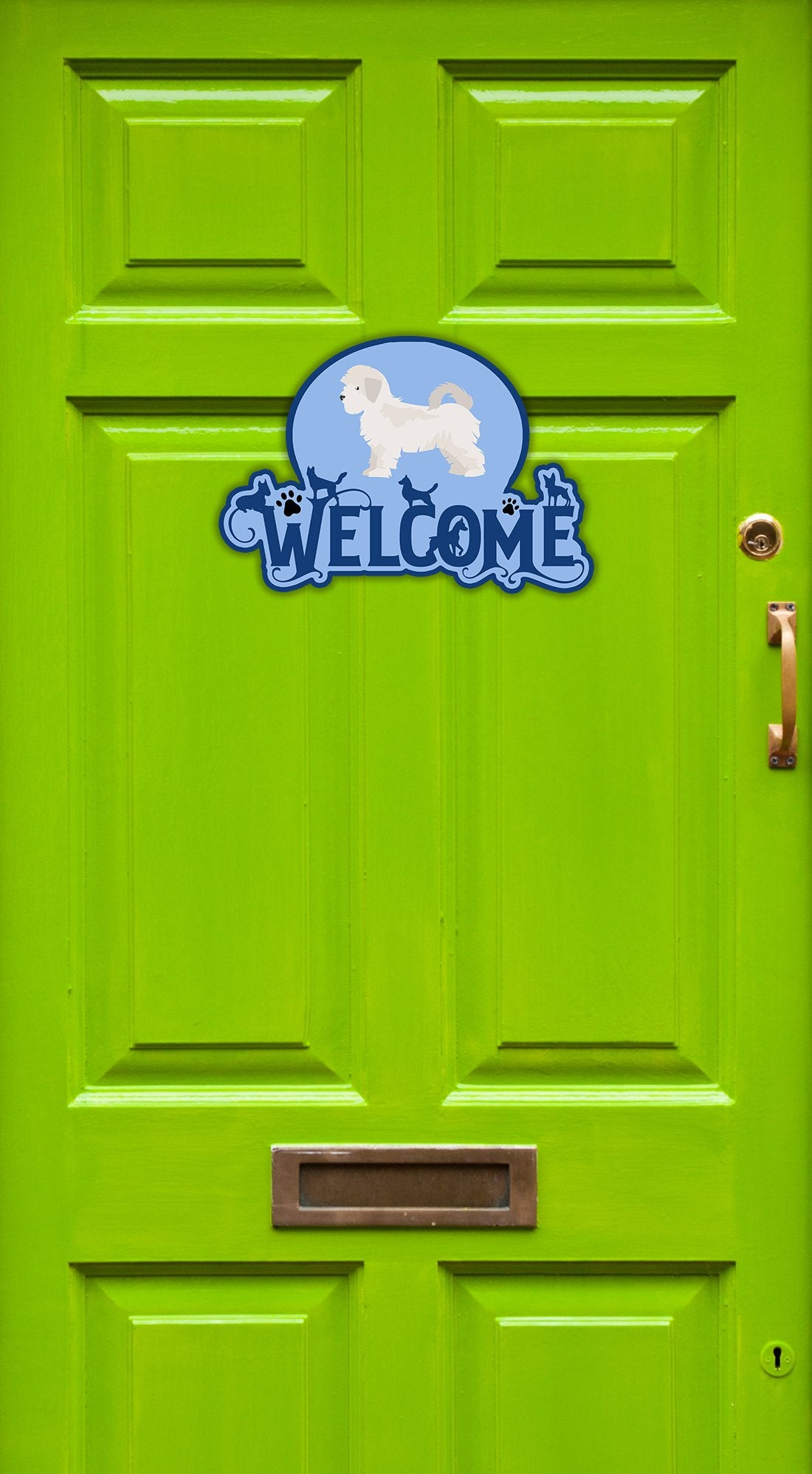 Buy this Maltese Puppy Cut Welcome Door Hanger Decoration