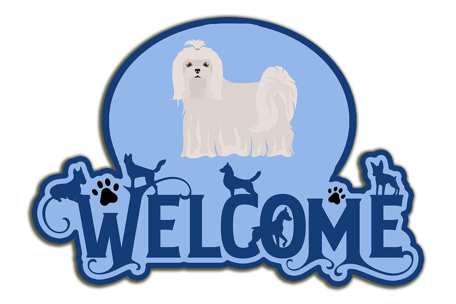 Buy this Maltese Welcome Door Hanger Decoration