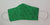 Emerald Green Ribbon for Liver Cancer Awareness Decorative Face Mask