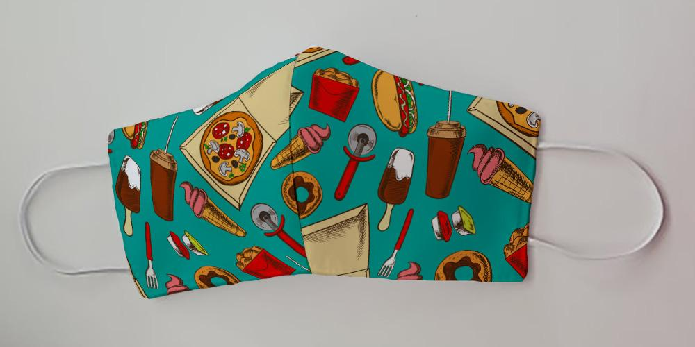 Fast Food Server / Restaurant Worker Working Series Fabric Decorative Face Mask by Caroline's Treasures