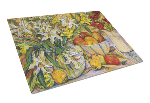 Buy this Fruit, Flowers and Vegetables Glass Cutting Board Large DND021LCB